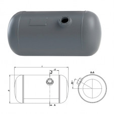 Балон цилиндрический d.200 20  л