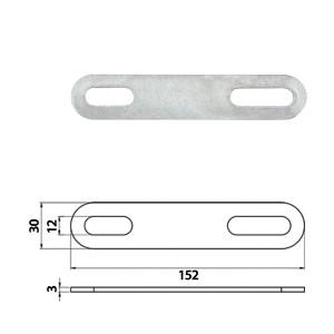 Кронштейн стальной 152 x 30 x 3,00 mm