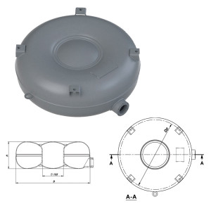 Балон тороидальный полнотелый наружный  D.680 H.250 76 л