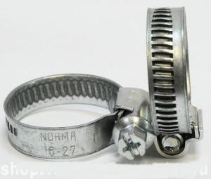 Хомут червячный NORMA Ø16-27