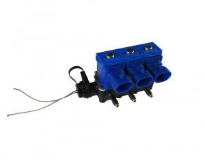 Форсунка OMVL 3 цил. 3 Ом с жиклерами и штуцерами в колектор
